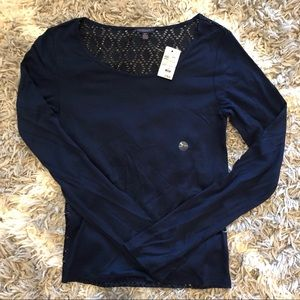 NWT Aeropostale Navy Women's Long Sleeve Shirt SP